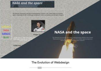 Webolution timeline webdesign